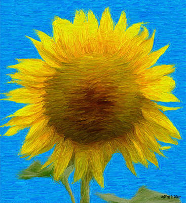 Jeff Painting - Portrait Of A Sunflower by Jeffrey Kolker