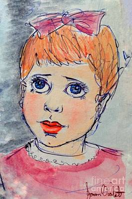 Painting - Portrait Of A Toddler by Joan-Violet Stretch