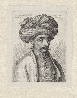 Poster Painting - Portrait Of A Turkish Man With Mustache And Turban by MotionAge Designs