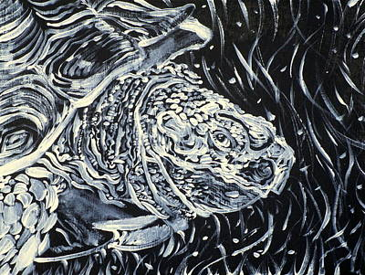 Painting - Portrait Of A Turtle by Fabrizio Cassetta