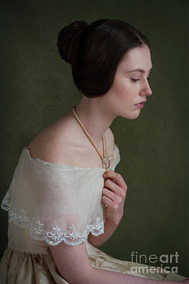 Photograph - Portrait Of A Victorian Woman From The 1840s by Lee Avison