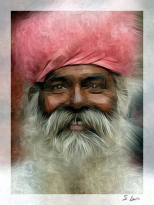 Photograph - portrait of a villager Metal Print by S Art