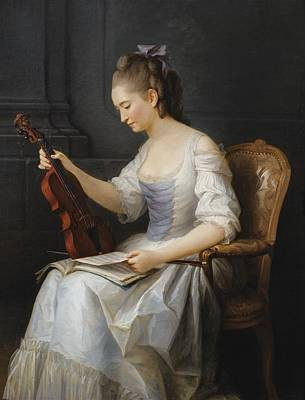 Painting - Portrait Of A Violinist by Celestial Images
