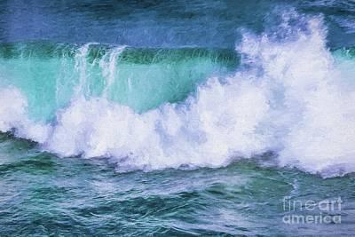 Digital Art - Portrait Of A Wave by Howard Ferrier