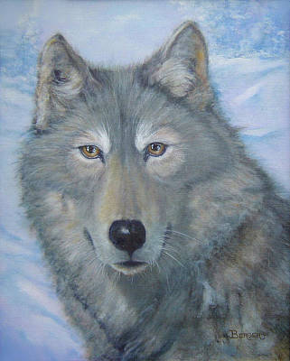 Painting - Portrait Of A Wolf by James Berger