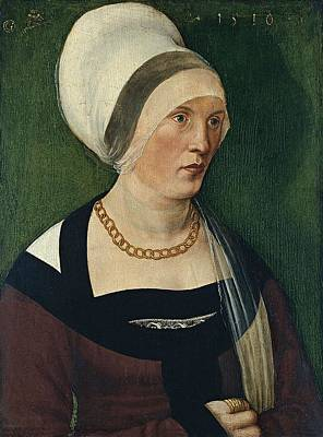 Animals Paintings - Portrait of a Woman 1510 by Wolf Traut by Wolf Traut