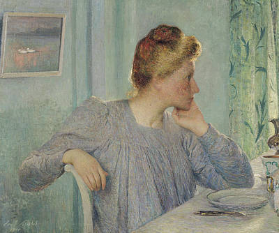 Interior Still Life Painting - Portrait Of A Woman, 1900 by Emile Claus