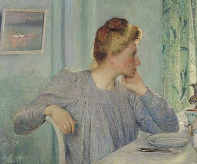 Reverie Painting - Portrait Of A Woman, 1900 by Emile Claus