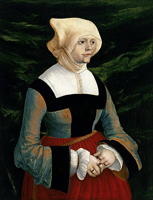 Little Master Painting - Portrait Of A Woman by Albrecht Altdorfer