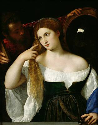 Ponytail Painting - Portrait Of A Woman At Her Toilet by Titian