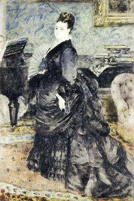 Piano Painting - Portrait Of A Woman Called Mme Georges Hartmann by Auguste Renoir