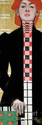 Portrait Of A Woman Art Print by Egon Schiele