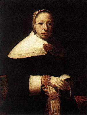 Digital Art - Portrait Of A Woman  by Gerrit Dou