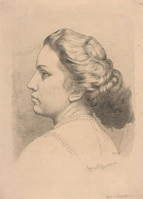 Drawing - Portrait Of A Woman by Treasury Classics Art