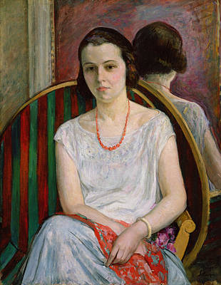 Sombre Painting - Portrait Of A Woman by Henri Lebasque