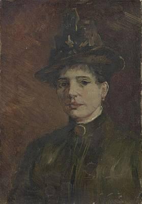 Painting - Portrait Of A Woman Paris  March  June 1886 Vincent Van Gogh 1853  1890 by Artistic Panda