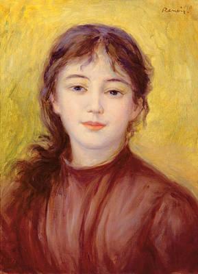 Portrait Of A Woman Art Print by Pierre Auguste Renoir