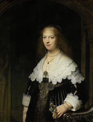 Stand Painting - Portrait Of A Woman, Possibly Maria Trip by Rembrandt van Rijn