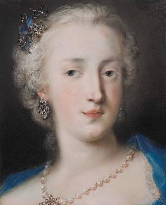 Venetian Art Pastel - Portrait Of A Woman by Rosalba Carriera