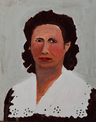 Painting - Portrait Of A Woman by Swabby Soileau