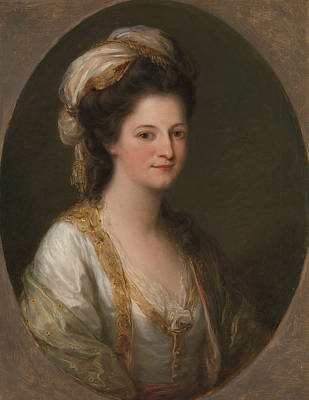 Portrait Of A Woman, Traditionally Identified As Lady Hervey Art Print by Angelica Kauffman