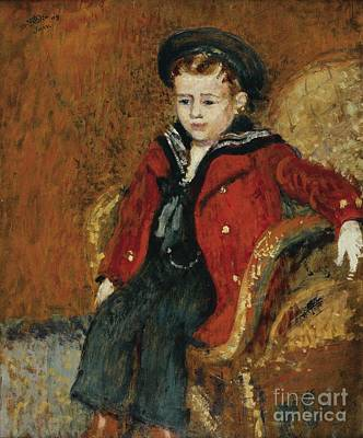 Portrait Of A Young Boy Art Print by Celestial Images