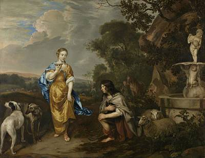 1640 Painting - Portrait Of A Young Couple by Celestial Images