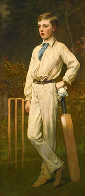 Painting - Portrait Of A Young Cricketer by James Sant