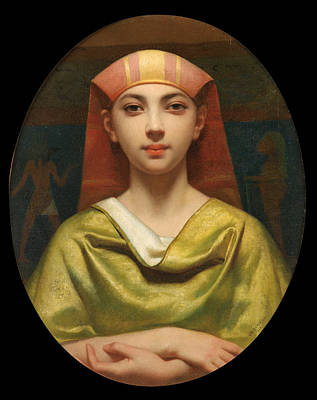 Charles Landelle Painting - Portrait Of A Young Egyptian Woman by Charles Zacharie Landelle