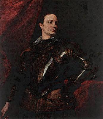 Digital Art - Portrait Of A Young General  by Sir Antony van Dyck