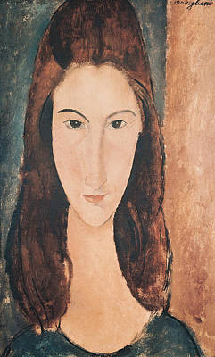 Brown Hair Painting - Portrait Of A Young Girl by Amedeo Modigliani
