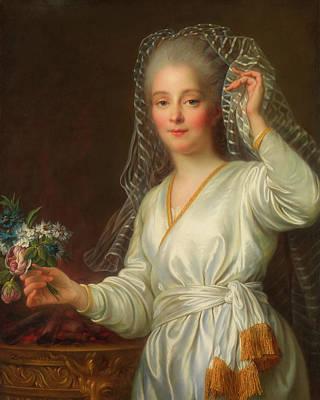 Portrait Of A Young Girl As A Vestal Virgin Art Print by Francois Drouais
