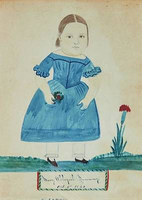 Abigail Painting - Portrait Of A Young Girl In A Blue Dress by Jane Anthony