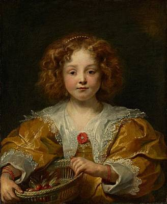 Portraits Painting - Portrait Of A Young Girl Possibly by Jacob Jordaens