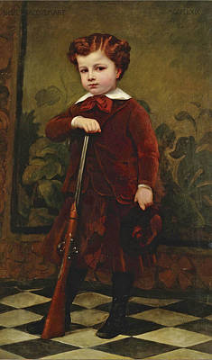 Painting - Portrait Of A Young Hunter by Nelie Barbe Hyacinthe Jacquemart