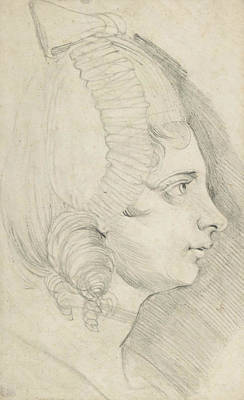 Swiss Drawing - Portrait Of A Young Lady Drawn In Left Profile by Henry Fuseli