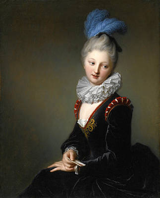 Painting - Portrait Of A Young Lady With A Letter Thought To Be Mademoiselle Christine-antoinette-charlotte Des by Jean-Baptiste Santerre