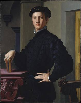 Painting - Portrait Of A Young Man by Agnolo di Cosimo di Mariano Bronzino