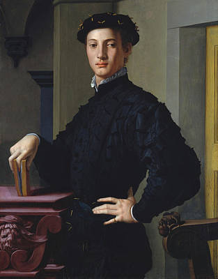 Still Life Painting - Portrait Of A Young Man by Bronzino