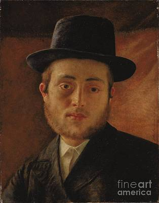 Isidor Kaufmann Painting - Portrait Of A Young Man by Celestial Images