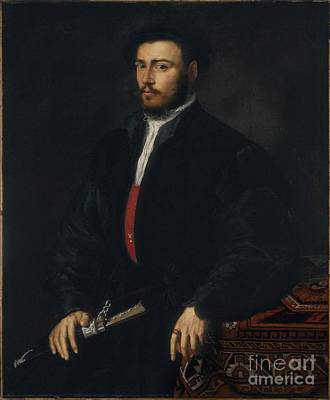 Lombard School Painting - Portrait Of A Young Nobleman by Celestial Images