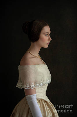 Photograph - Portrait Of A Young Victorian Woman From 1840s by Lee Avison