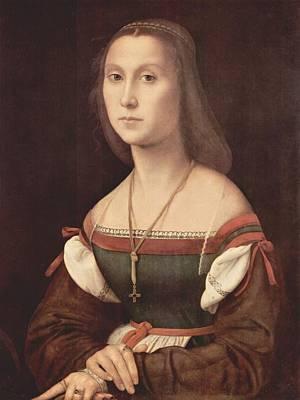 Raffaello Santi Painting - Portrait Of A Young Woman Aka La Muta - 1507 by Raphael