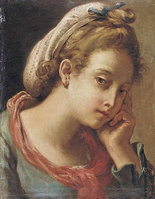 Painting - Portrait Of A Young Woman by Gaetano Gandolfi