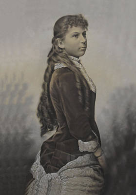 Painting - Portrait Of A Young Woman by Vintage Photo