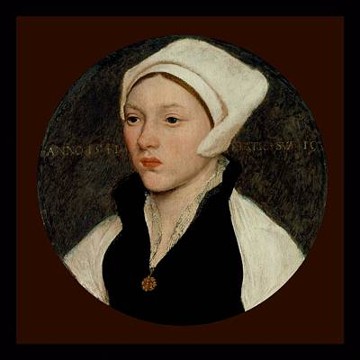Portrait Of A Young Woman With A White Coif - 1541 Art Print by Hans Holbein the Younger