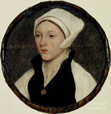 Portrait Of A Young Woman With A White Coif Art Print by Celestial Images