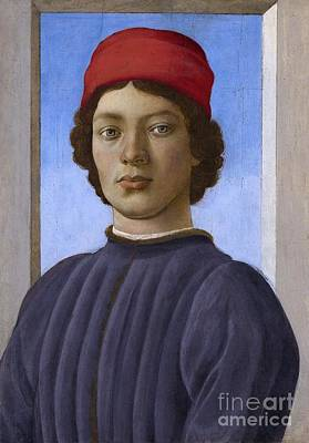 Young Man Painting - Portrait Of A Youth by Celestial Images