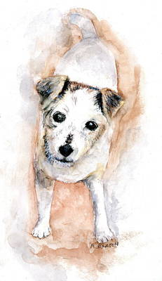 Painting - Portrait Of Abby - Jack Russell Terrier by Marilyn Barton