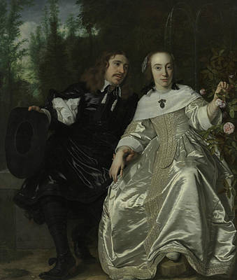 Painting - Portrait Of Abraham Del Court And His Wife Maria De Kaersgieter by Bartholomeus van der Helst
